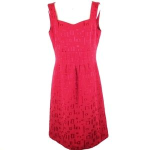 Tahari red  sleeveless dress